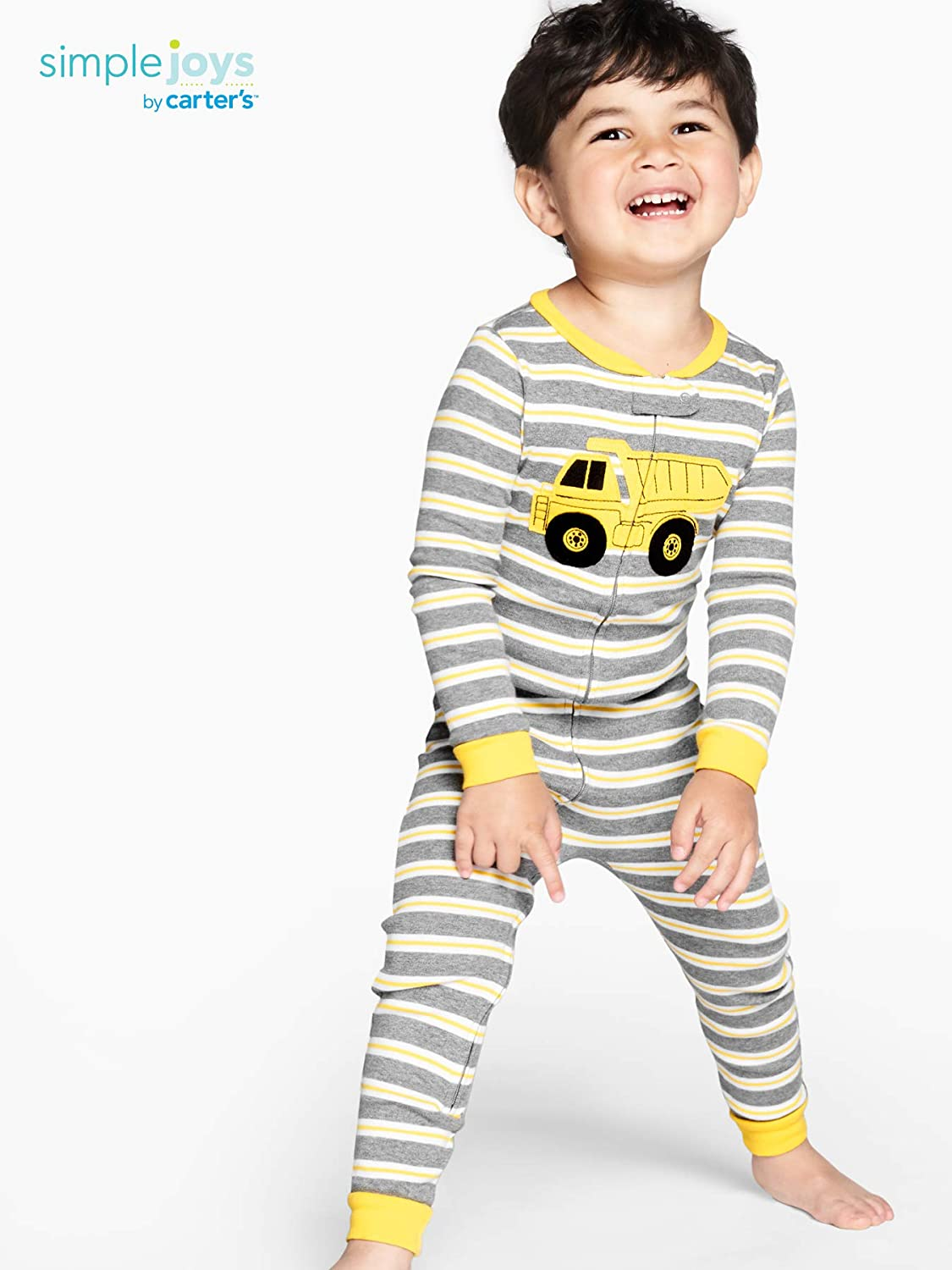 Simple Joys by Carter's Baby Boys' 3-Pack Snug Fit Footless Cotton Pajamas: Clothing