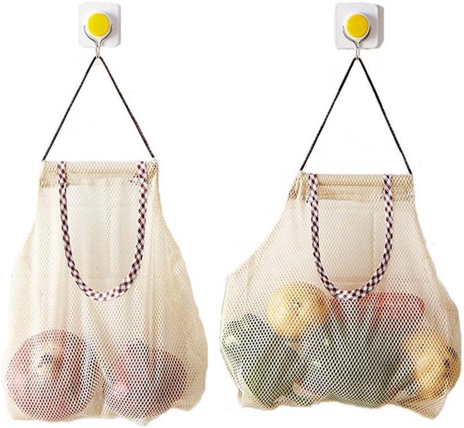 Vegetable Onion Potato Hanging Bag Kitchen Garlic Ginger Mesh Storage Bag  G PZ