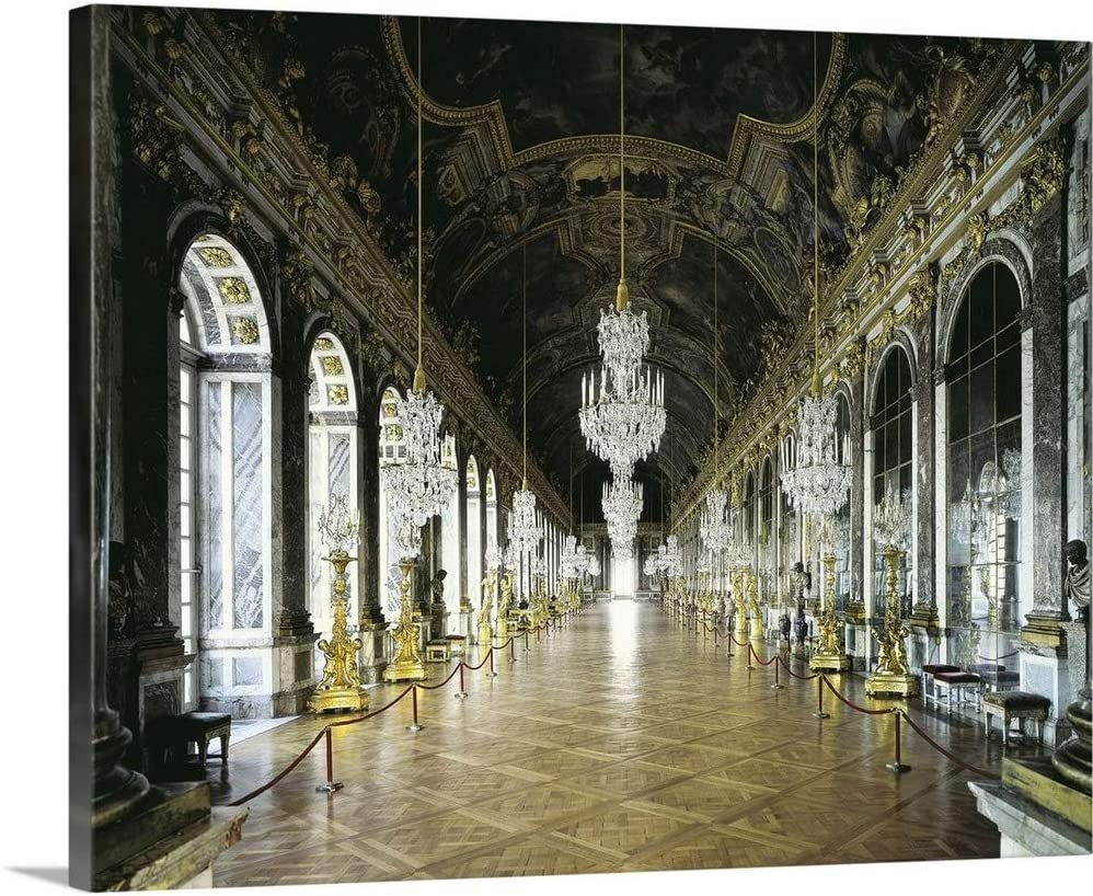 Hall Of Mirrors In The Palace Of Versailles Canvas Wall Art Print 20 X16 X1 25 Posters Prints Amazon Com