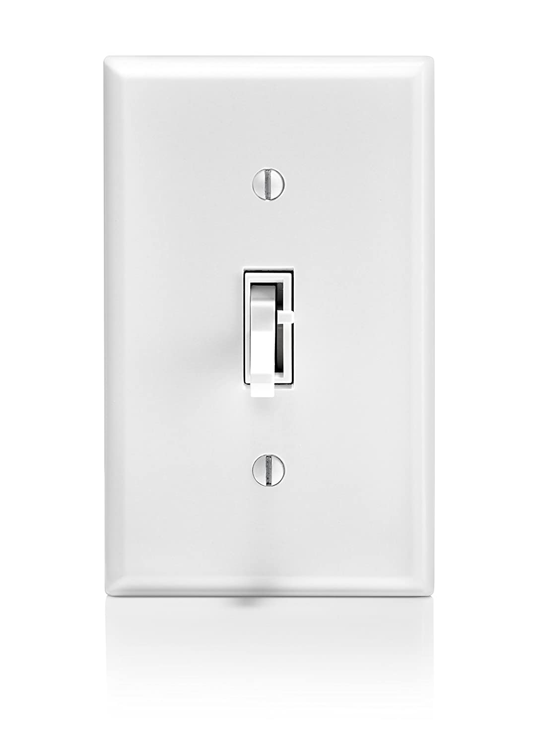 600-Watt Incandescent and Halogen for Single Pole or 3-way with locator light White 300-Watt Dimmable LED and CFL Leviton TSL06-1LW Toggle Slide Universal Dimmer