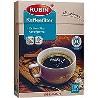 Rubin Doğal Kahverengi Kağıt Filtre 2 Numara 100 Adet