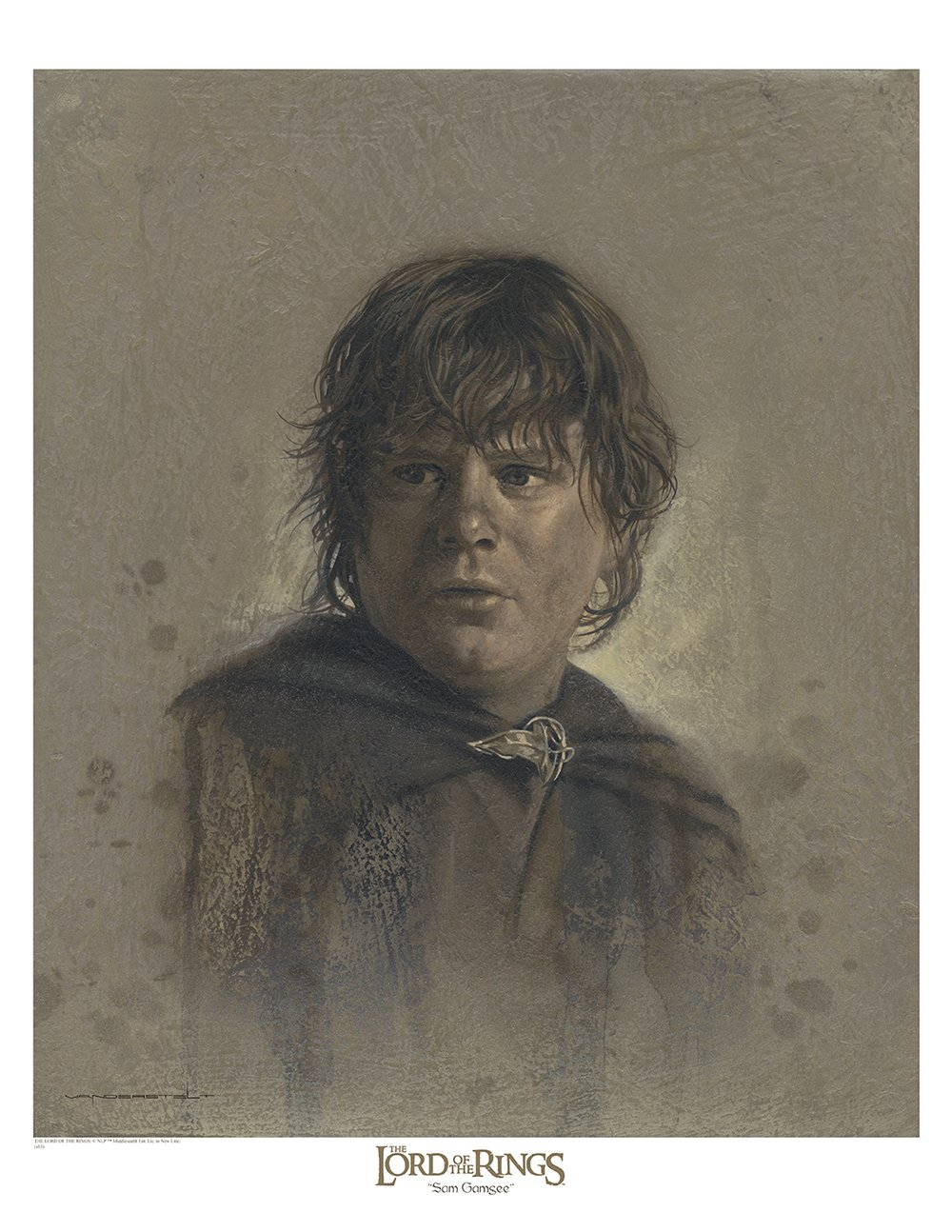 Samwise 12 x 16 Antique Paper Giclee Art print - The Lord of the Rings VanderStelt Studio