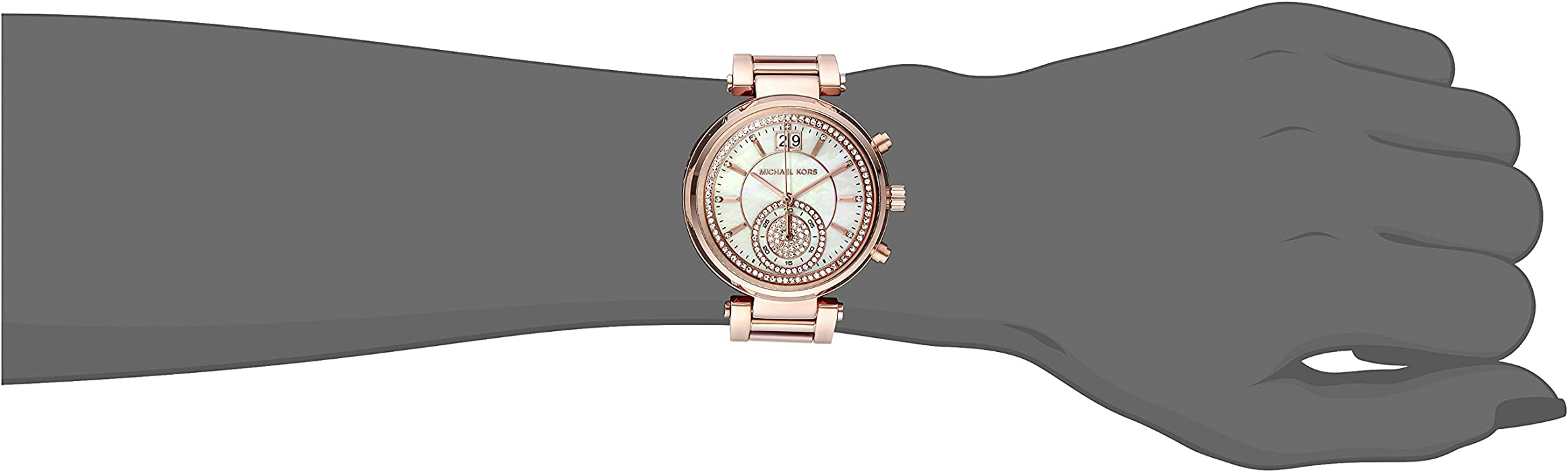 3dfcf023792d Amazon.com  Michael Kors Women s Sawyer Rose Gold-Tone Watch MK6282 ...