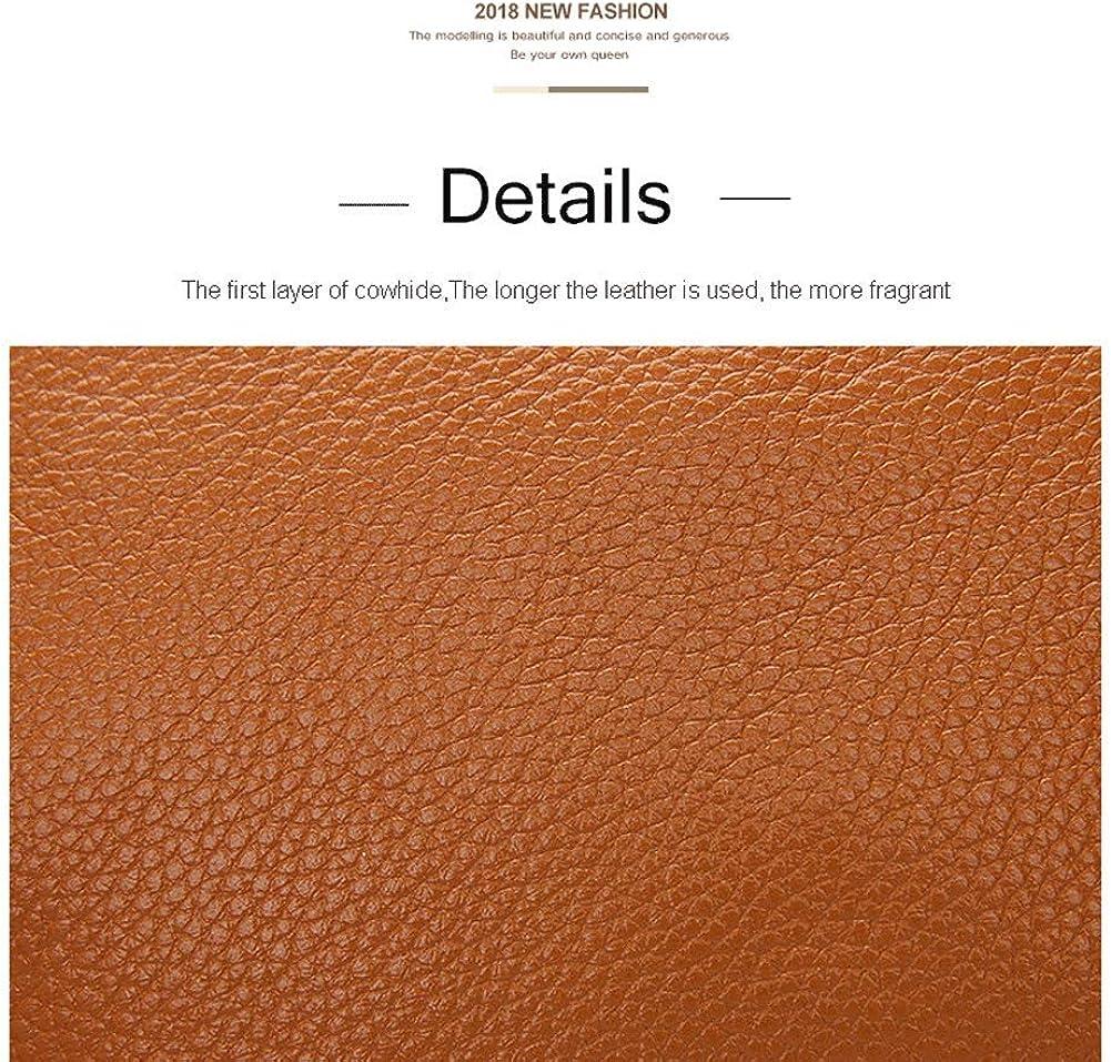Borsa a tracolla multifunzione in pelle di borsetta borsa a tracolla multifunzione Borsa messenger grande capacità nuova,Borsa a tracolla da donna Brown