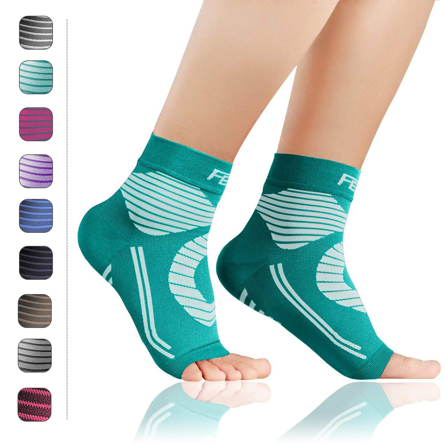 Plantar Fasciitis Socks with Arch Ankle Support Compression Socks Featol