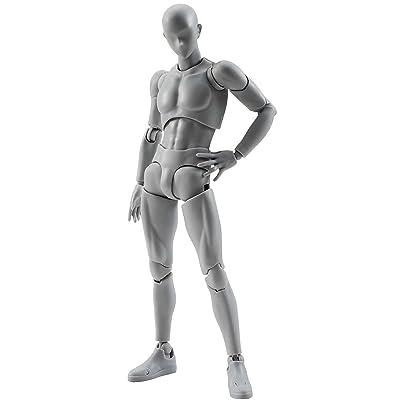 Bandai - Figurine S.H.Figuarts - Body Kun (male) DX Set Grey Color Version - 4549660040880: Toys & Games
