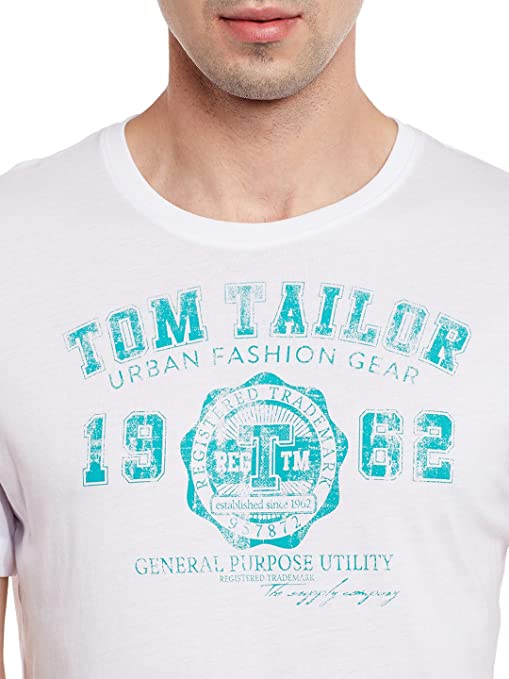 sale retailer get cheap look for Tom Tailor Printed White T Shirt: Amazon.in: Clothing ...