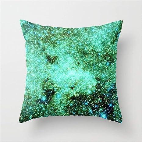 Home & Hat Galaxy - Funda de cojín, diseño de Estrellas ...