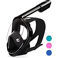 DIVELUX Full Face Snorkel Mask - Innovative Snorkeling Mask - Premium Snorkeling Gear for Adults - 180 Panoramic View…