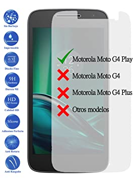 Todotumovil Protector de Pantalla Cristal Templado Vidrio 9H para Motorola Moto G4 Play