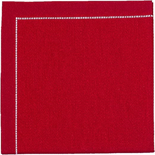 4 Single Paper Table Napkins for Decoupage Stripe Corner Red