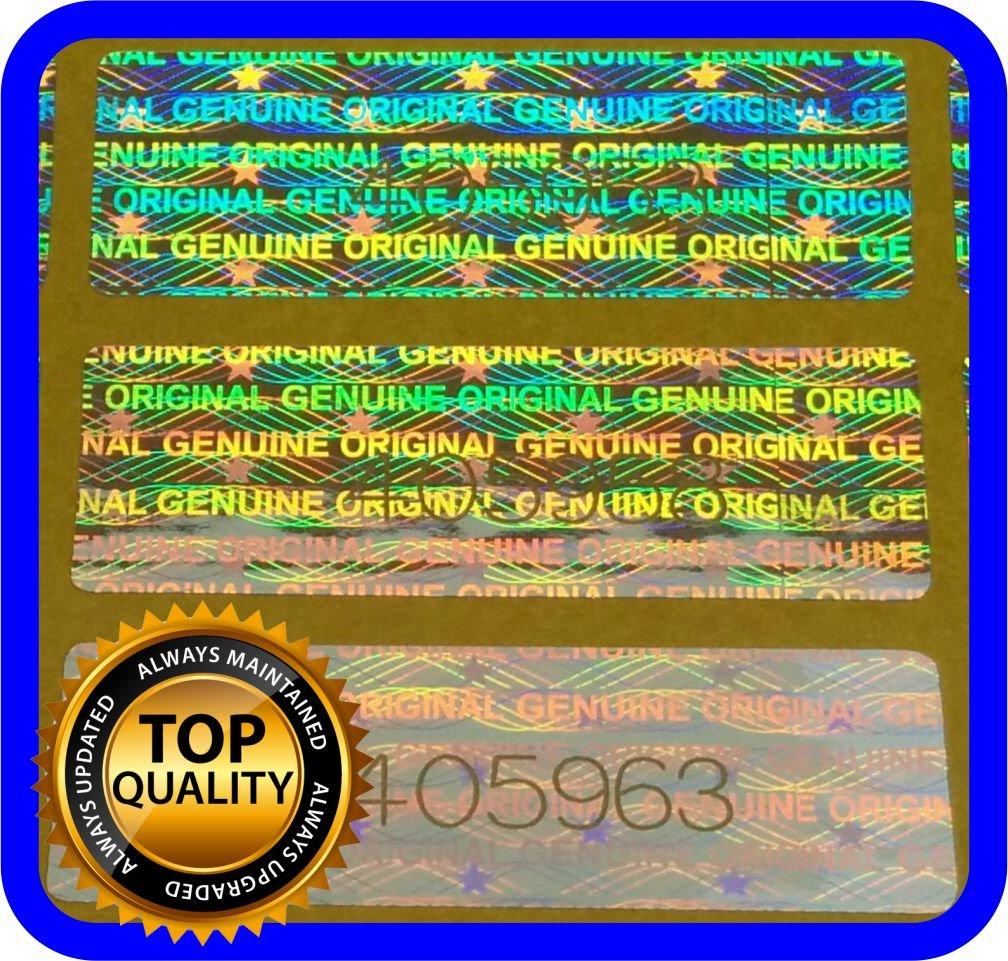 130 Etiquetas Seguridad Numeradas con Holograma (3x1cm)