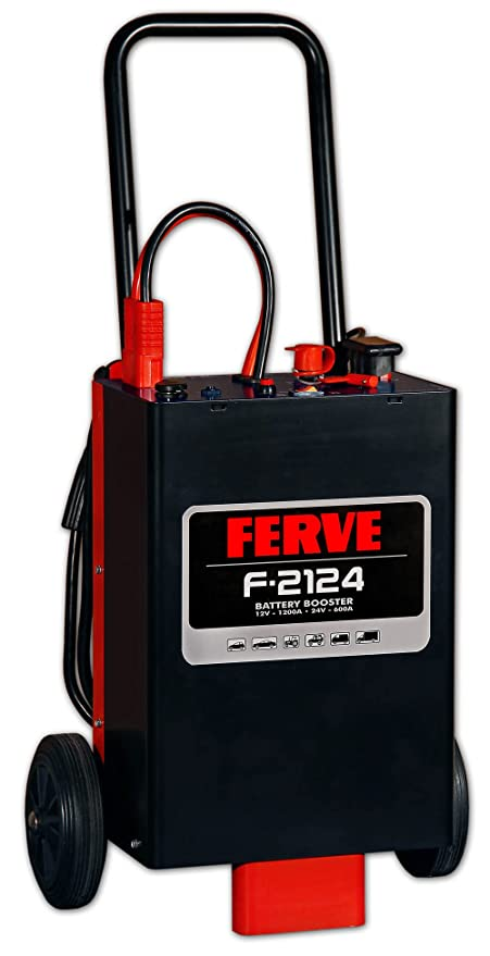 FERVE F-2124 Booster Arrancador 12-24V 1200-600A, 0: Amazon ...
