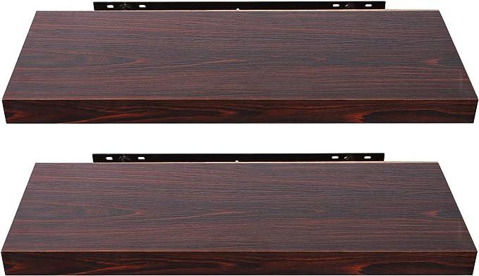 TYLINK 2er Set Wandregalen Schwimmendes Regal Holz Wandregal mit Handtuchhalter Dekoratives Regal Aufbewahrungsregale f/ür Badezimmer Schlafzimmer K/üche Wohnzimmer Flur