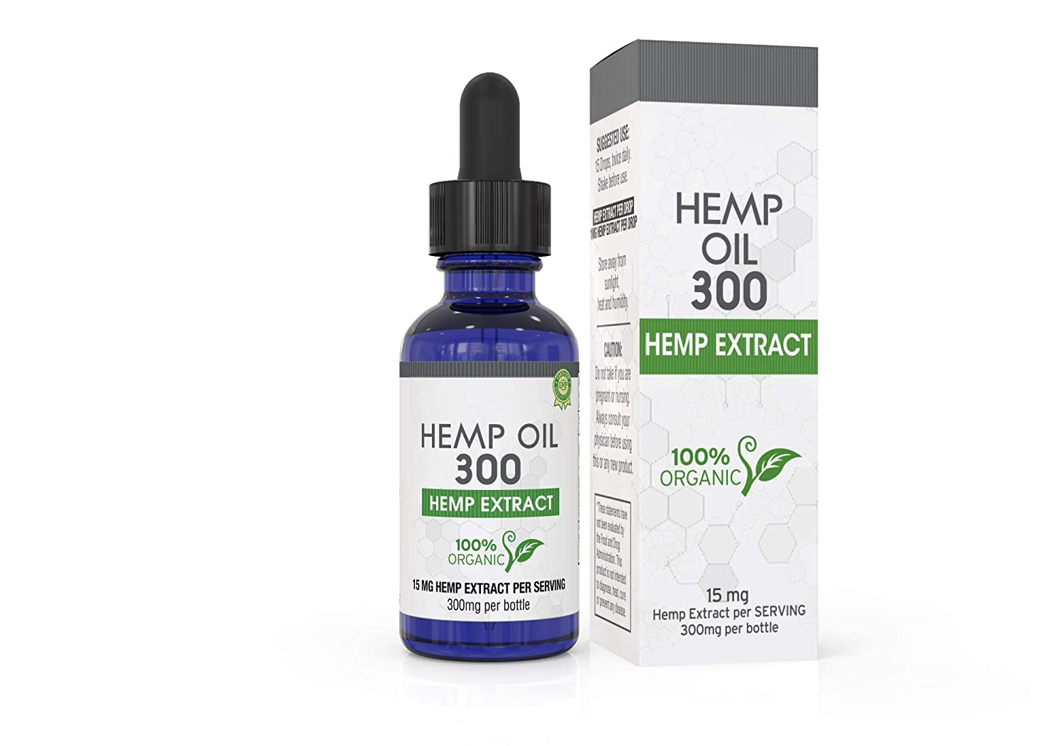 Hemp Oil for Pain, Anxiety & Stress Relief - 300mg - 100% Organic Hemp  Extract Drops - Natural Anti-Inflammatory, Joint Support Helps with Better
