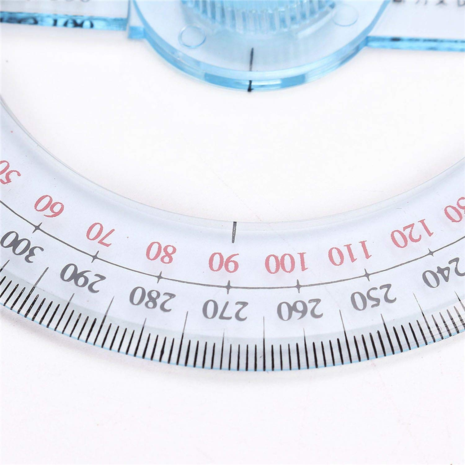 Portable Diameter of 10cm Plastic 360 Degree Pointer Protractor Ruler Angle Swing Arm for School Office Supplies,1 Pc by lucky-eye (Image #6)