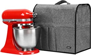 Akinerri Kitchen Aid Mixer Cover Stand Mixer Dust Proof Cover with Accessory StoragePockets and Handles Kitchen Appliance Cloth Cover Organizer BagFits All Tilt Head & Bowl Lift Models