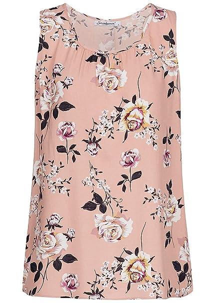 d2a598834ec9ab Seventyseven Lifestyle Damen Blusen Top Blumen Muster rosa Weiss, Gr ...