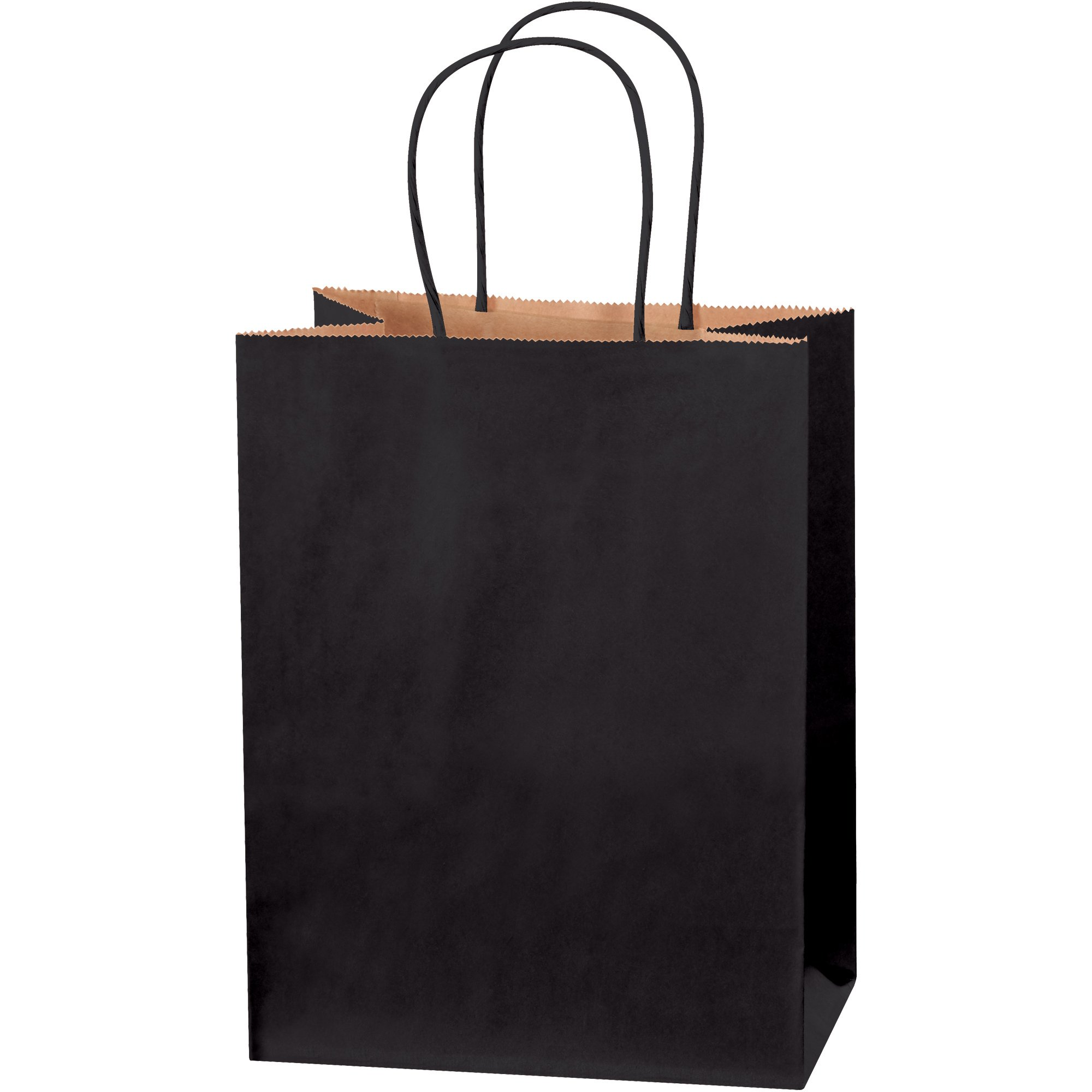 Tinted Shopping Bags, 8'' x 4 1/2'' x 10 1/4'', Black, 250/Case by Choice Shipping Supplies (Image #1)