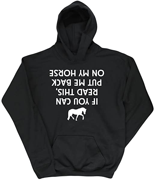 If You Can Read This Put Me Back On The Horse Kids Unisex Hoodie