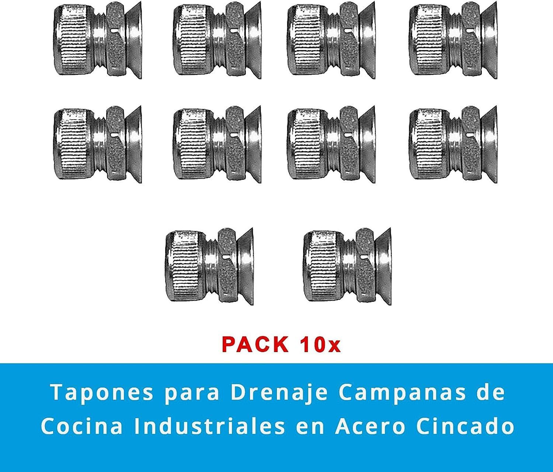 Quickware Tapón para Drenaje Campanas de Cocina Industriales en Acero Zincado | Tapón para Limpieza de Campanas de Extracción de Hostelería: Amazon.es: Hogar