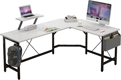 CAIYUN L Shaped Corner Desk,59 inches Computer Desk