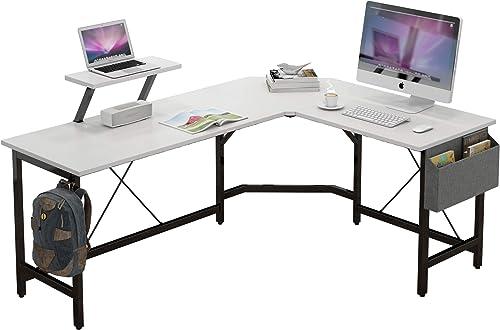 CAIYUN L Shaped Corner Desk,59 inches Computer Desk