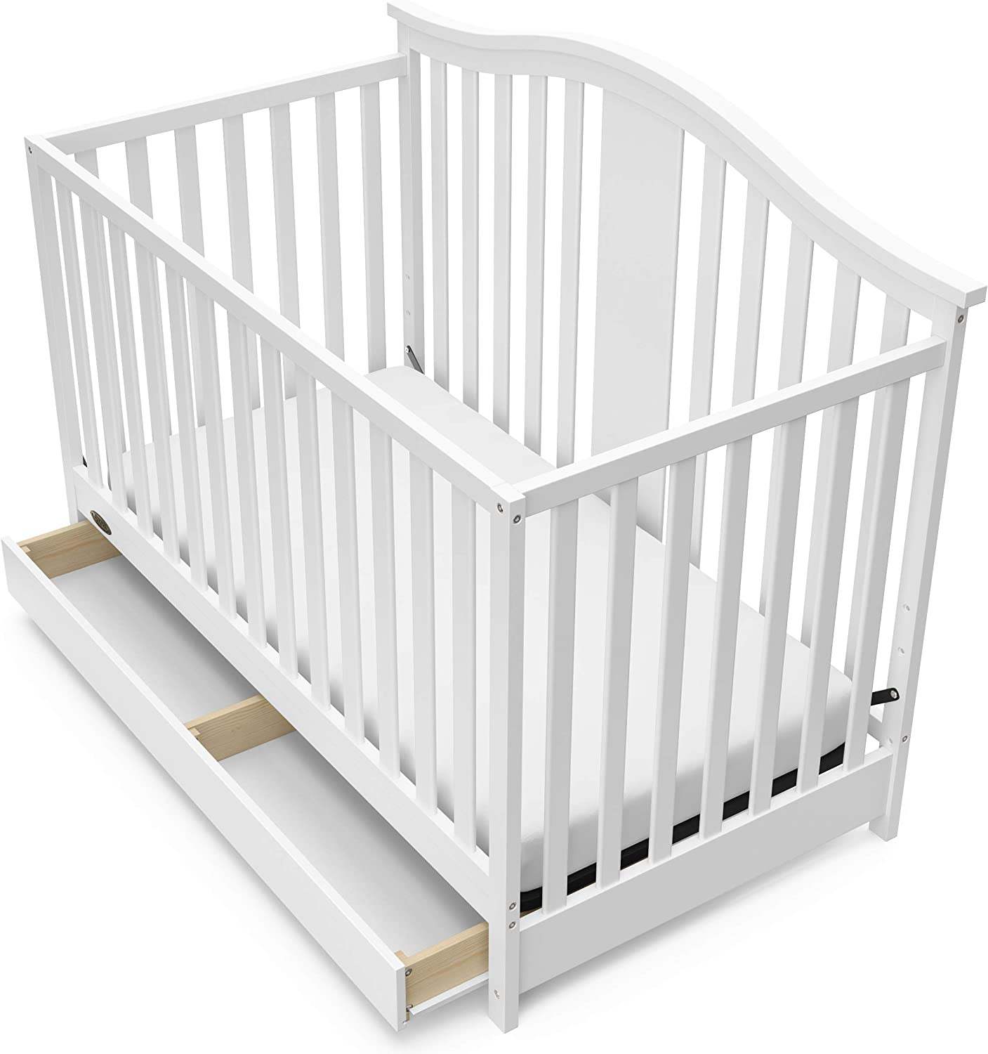 Multipurpose Storkcraft Graco Solano 4-in-1 Convertible Crib with Drawer