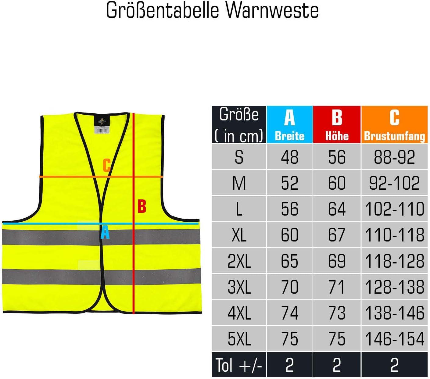Druck Schwarz Warnweste /· Bitte Abstand halten /· Funktionsweste Sicherheitsabstand Abstand halten 1,5m 2m Gelb Orange Neon Pr/ävention Kontaktsperre Ausgangssperre Sicherheit /· Gelb 5XL