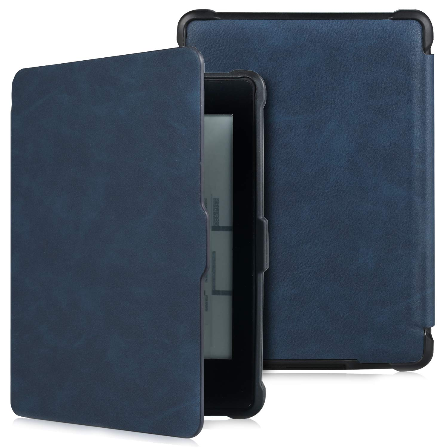 Case for Kindle Paperwhite -Premium Thinnest and Lightest PU Leather Cover With Auto Wake/Sleep for Amazon All-New Kindle Paperwhite (Fits 2012, 2013, 2015 Versions) Navy Blue by Genetic.