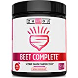 Zhou Nutrition Beet Complete, Nitric Oxide Superfood Powder Preworkout Formulated to Boost Performance & Heart Health…