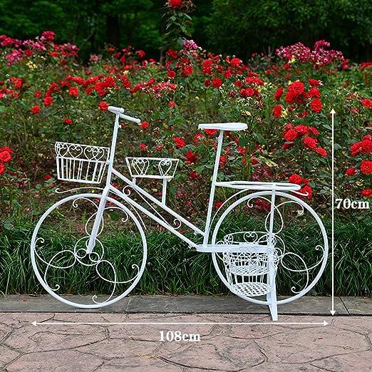 LJBOZ Soporte De Flores De Hierro Bicicleta 4 Capas Flor Estante ...