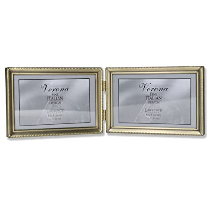 Amazon.com - Lawrence Frames Antique Brass 4x6 Hinged Double ...