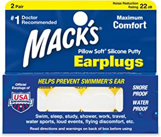 product image for Mack's Pillow Soft Silicone Earplugs - 2 Pair, Pack of 2