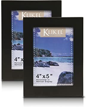 Set of 2 Wall Hanging and Table Standing Picture Frames 5x7 Frame Without Mat Klikel 4 X 6 Picture Frame Black Wooden Matted Wall Frame