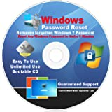 Windows 7 Password Reset CD Disc - Remove Forgotten Passwords Fast - Works on All Versions of Windows 7 Starter - Home Basic - Home Premium - Professional - Ultimate 32-Bit & 64-Bit