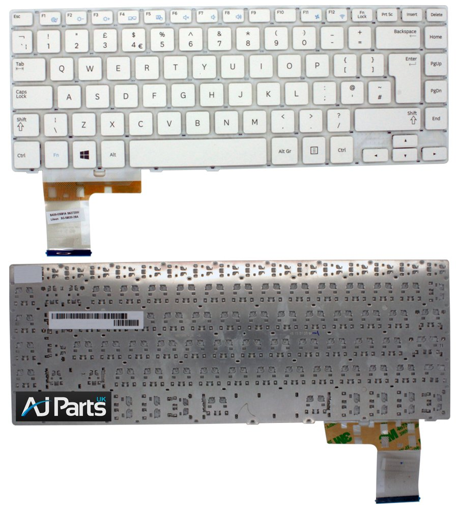 Samsung NP450R5E - x01 blanco teclado para ordenador portátil nuevo UK diseño de teclado QWERTY: Amazon.es: Electrónica