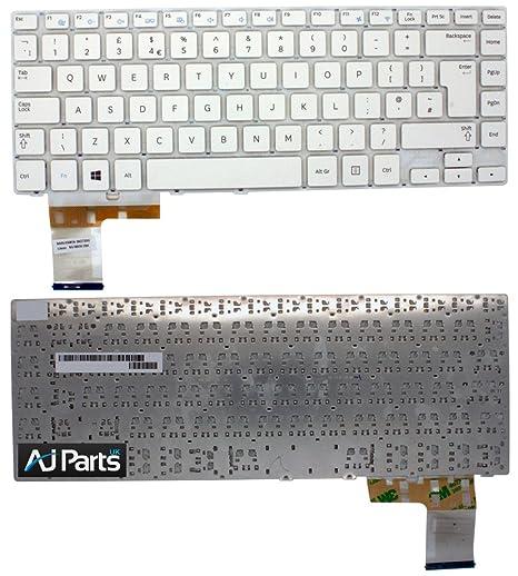 Nuevo UK teclado para Samsung np450r5u NP450R5 sin Marco Blanco Color