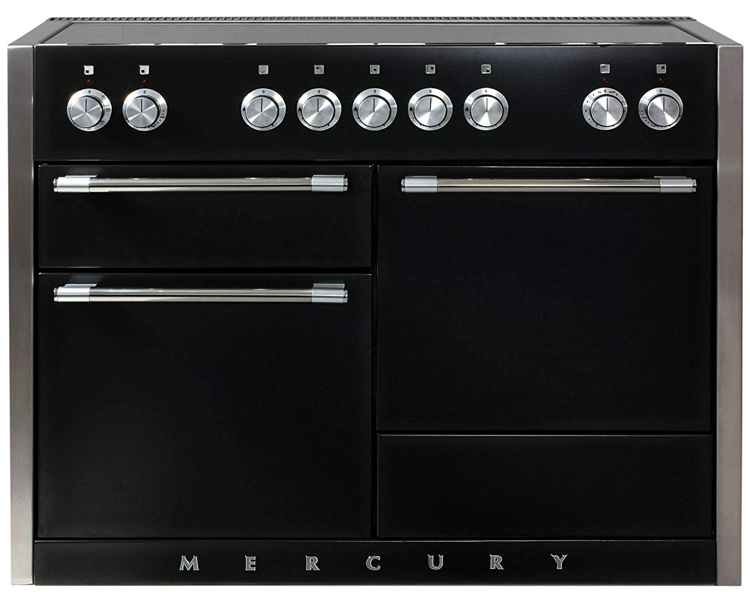 AGA AMC48IN Mercury Series 48 Inch Wide 6 Cu. Ft. Slide In Electric Range with G, Gloss Black