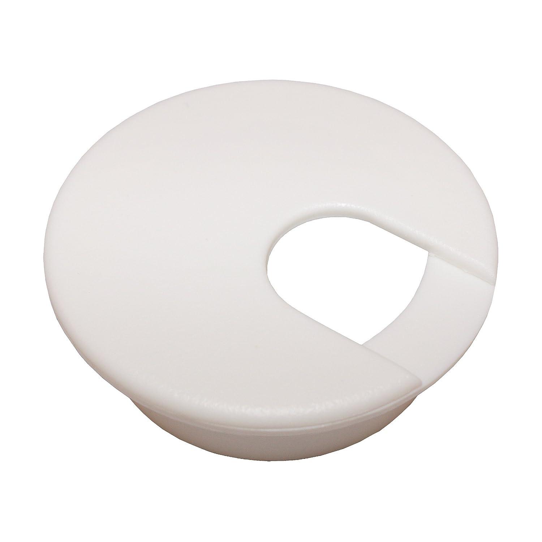 2 White Desk Grommet 5 Pack