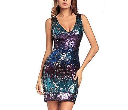 81cfc79b7508 Women's Ruffle One Shoulder Split Midi Party Bodycon Dress at Amazon  Women's Clothing store:
