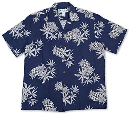 7ff1419210 Two Palms Hawaiian Shirt Pineapple Map Navy Blue at Amazon Men's ...