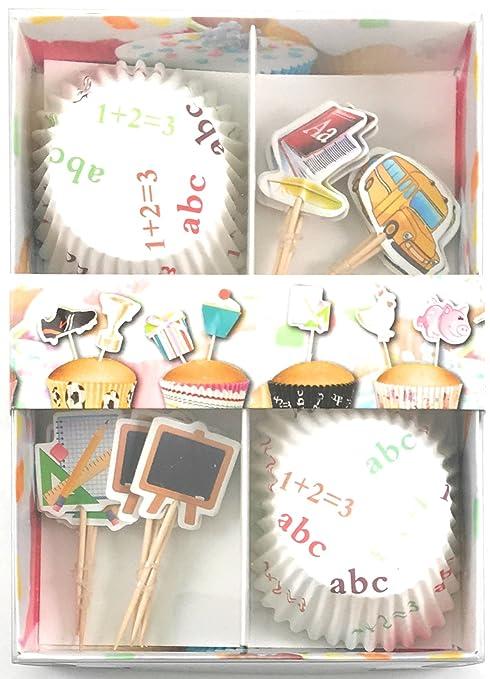 48 piezas Muffin y cupcake – – Escuela