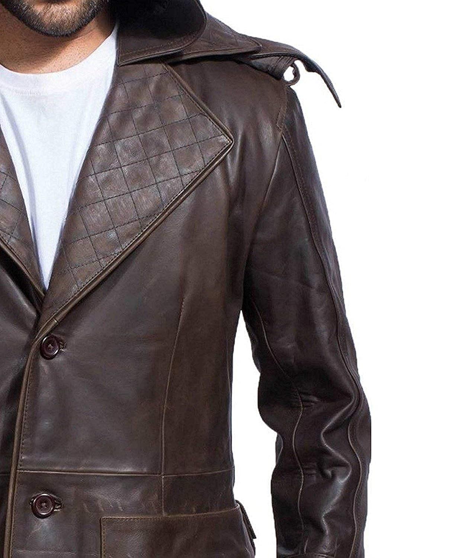 Amazon.com: Ninja - Abrigo de piel con capucha extraíble ...