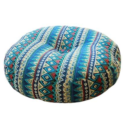 Amazon.com: Bohemia Style cojín redondo silla asiento Pad ...