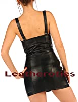 Leather Mini Dress Laces Erotic Sexy Top MD94