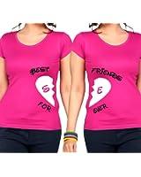 2 Partner Look BFF T-Shirts mit geteiltem Herz | Buchstaben frei wählbar | in versch. Farben | BEST FRIENDS FOREVER | als Geschenk für Freundinnen | Geburtstag