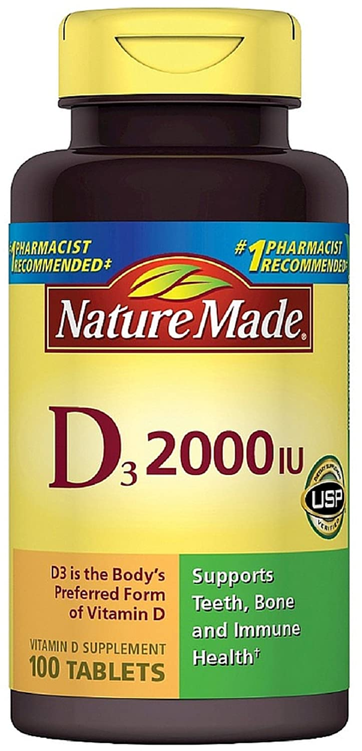 7d1e4ee14ab Amazon.com  Nature Made Vitamin D3 2000 IU Tablets 100 ea (Pack of 2)   Health   Personal Care