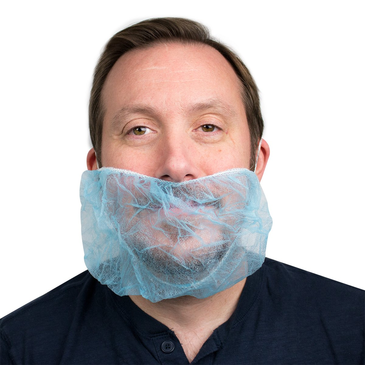 UltraSource Beard Nets, Latex Free Polypropylene, Bouffant, 18'' Blue (Pack of 1000)