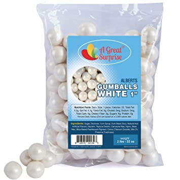 Brilliant Gumballs In Bulk White Gumballs For Candy Buffet Shimmer Download Free Architecture Designs Embacsunscenecom